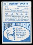 1968 Topps #165  Tommy Davis  Back Thumbnail