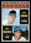 1970 Topps #286   -  Jack Jenkins / Bill Buckner Dodgers Rookies Front Thumbnail
