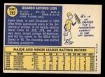 1970 Topps #292   Eddie Leon Back Thumbnail