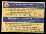 1970 Topps #131  Dodgers Rookies  -  Ray Lamb / Bob Stinson Back Thumbnail