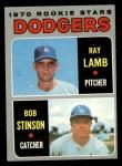 1970 Topps #131  Dodgers Rookies  -  Ray Lamb / Bob Stinson Front Thumbnail