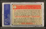 1952 Topps #1 RED Andy Pafko  Back Thumbnail