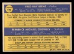 1970 Topps #121  Orioles Rookies  -  Fred Beene / Terry Crowley Back Thumbnail