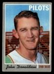 1970 Topps #418   John Donaldson Front Thumbnail