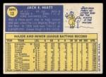 1970 Topps #13  Jack Hiatt  Back Thumbnail