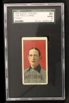 1909 T206 #92 POR Fred Clarke  Front Thumbnail