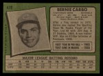 1971 Topps #478   Bernie Carbo Back Thumbnail