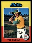 1975 Topps #329  Ted Kubiak  Front Thumbnail
