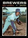 1971 Topps #116   Ken Sanders Front Thumbnail