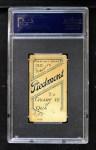 1909 T206 #91 BAT Fred Clarke  Back Thumbnail