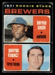 1971 Topps #204   Brewers Rookie Stars  -  George Kopacz / Bernie Smith Front Thumbnail