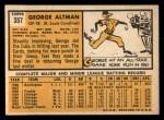 1963 Topps #357   George Altman Back Thumbnail