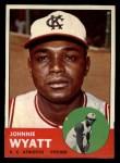 1963 Topps #376 COR  John Wyatt Front Thumbnail