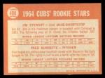 1964 Topps #408  Cubs Rookies  -  Jim Stewart / Fred Burdette Back Thumbnail