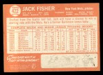 1964 Topps #422   Jack Fisher Back Thumbnail