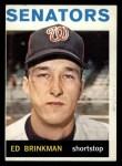 1964 Topps #46   Ed Brinkman Front Thumbnail