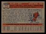 1957 Topps #72   Bill Tuttle Back Thumbnail