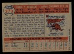 1957 Topps #373   Pete Whisenant Back Thumbnail