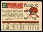 1959 Topps #231  Ellis Burton  Back Thumbnail
