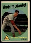 1959 Topps #479  Lindy McDaniel  Front Thumbnail