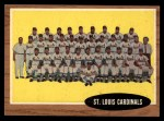 1962 Topps #61   Cardinals Team Front Thumbnail