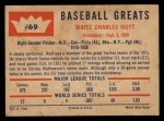 1960 Fleer #69  Waite Hoyt  Back Thumbnail