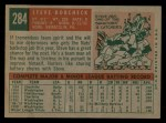 1959 Topps #284   Steve Korcheck Back Thumbnail