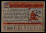 1957 Topps #254  Ron Negray  Back Thumbnail