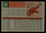 1959 Topps #162  Bobby Gene Smith  Back Thumbnail
