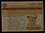 1960 Topps #181   Billy Loes Back Thumbnail