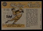 1960 Topps #563  All-Star  -  Mickey Mantle Back Thumbnail