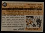 1960 Topps #145  Rookies  -  Jim Umbricht Back Thumbnail