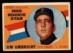 1960 Topps #145   -  Jim Umbricht Rookie Star Front Thumbnail