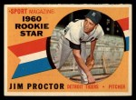 1960 Topps #141  Rookies  -  Jim Proctor Front Thumbnail