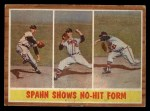 1962 Topps #312  Spahn Shows No-Hit Form  -  Warren Spahn Front Thumbnail