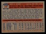1957 Topps #49   Daryl Spencer Back Thumbnail
