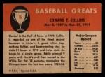 1961 Fleer #16   Eddie Collins Back Thumbnail