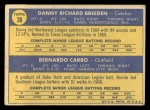1970 Topps #36  Reds Rookies  -  Danny Breeden / Bernie Carbo Back Thumbnail