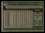 1979 Topps #170  Don Sutton  Back Thumbnail