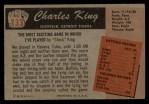 1955 Bowman #133   Charles King Back Thumbnail