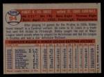 1957 Topps #94   Bobby Del Greco Back Thumbnail