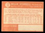 1964 Topps #342  Willie Stargell  Back Thumbnail