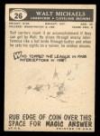 1959 Topps #26   Walt Michaels Back Thumbnail
