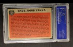 1962 Topps #136 A  -  Babe Ruth Babe Joins Yanks Back Thumbnail