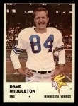 1961 Fleer #129  Dave Middleton  Front Thumbnail