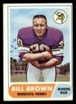 1968 Topps #133  Bill Brown  Front Thumbnail