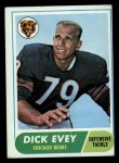 1968 Topps #205   Dick Evey Front Thumbnail