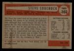 1954 Bowman #103 ALL  Steve Souchock Back Thumbnail