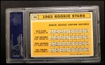 1963 Topps #466   Rookie Stars   -  Bill Freehan / Tony Martinez / Nate Oliver / Jerry Robinson Back Thumbnail
