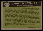 1961 Topps #567  All-Star  -  Danny Murtaugh Back Thumbnail